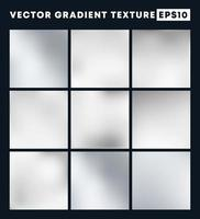 Silber Gradienten Textur Muster gesetzt vektor