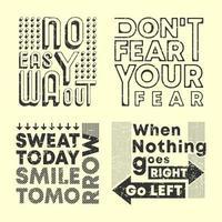 mode slogan t-shirt tryck stämpel set vektor