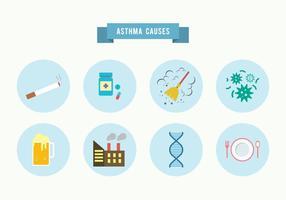 Asthma Ursachen Vector