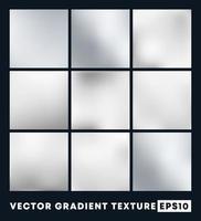 Satz von silbernen Farbverlaufstexturen vektor