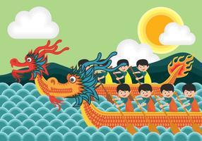 Drachenboot-Festival Illustration