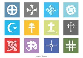 Religiöse Vector Icon Set