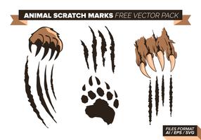 Tier-Kratzer-Markierungen Free Vector-Pack