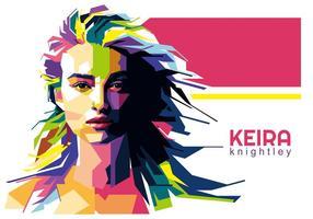 Keira Knightley Vektor WPAP
