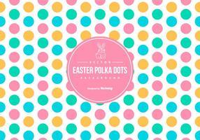 Nette bunte Ostern Polka-Punkt-Hintergrund