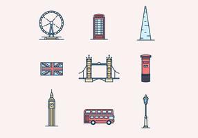 England tema Ikoner vektor
