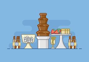 Baby Shower Schokoladen-Brunnen-Illustration