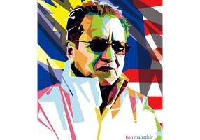 Tun Mahathir WPAP Vektor