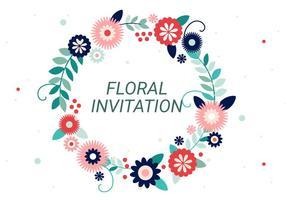 Freie Blumenkranz Vektor Typography
