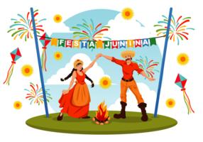 Festa Junina Vektor-Illustration