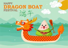 Fun Dragon Boat Festival Vektor