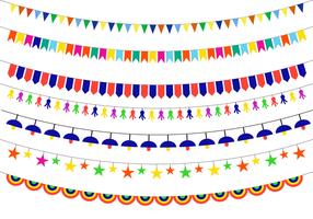 Färgrik Festa vektor