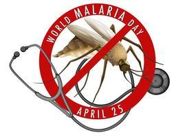 värld malaria dag banner