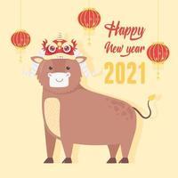 chinesisches Neujahr des Ochsenbanners vektor