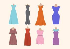 Platt Kvinnans klänning vektorer