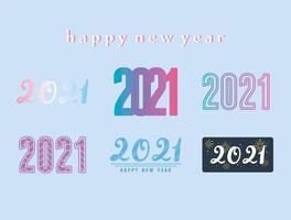 Frohes neues Jahr 2021 Schriftzug gesetzt
