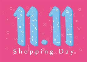 elfte november, shoppingdag banner vektor