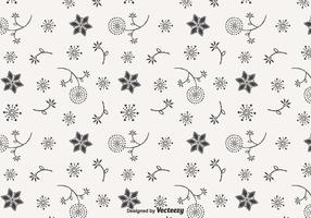 Blowball Doodle Vector Seamless Pattern