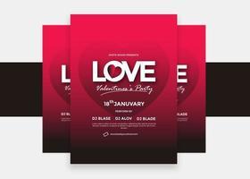 Alla hjärtans dag kärleksfest flyer design