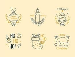 God jul etikett insamling