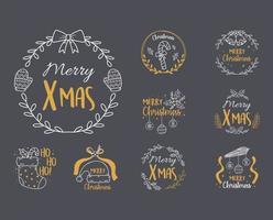 God jul etikett insamling vektor