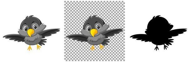 uppsättning fågelkaraktärer