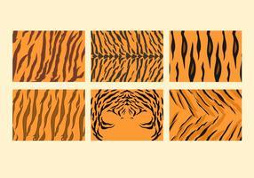 Freier Tiger-Streifen-Muster-Vektoren