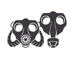 Paar Symbole für Biosicherheitsgasmasken