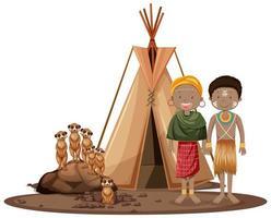 ethnische Menschen afrikanischer Stämme vektor