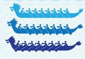 Drachenboote Silhouetten