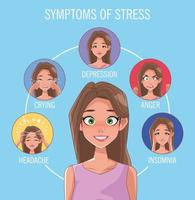 Gruppe von Frauen mit Stresssymptomen