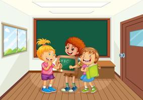 elever i klassrummet vektor