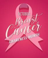 rosa Monat des Bewusstseins des Brustkrebsbewusstseinsmonats