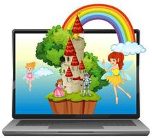 Märchen auf Laptop-Desktop-Hintergrund