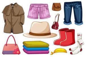 uppsättning modekläder