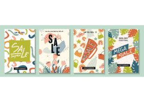 Verkauf Website Banner, E-Mail-Marketing-Vorlage Sammlung vektor