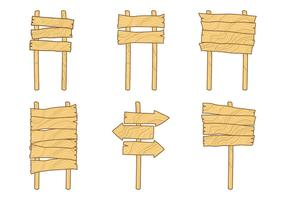 Freie Madeira Holzschild Vektoren