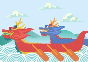 Drakbåtsfestivalen bakgrund vektor