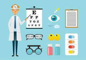 Augenarzt und toosl Vektoren
