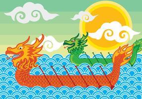 Drachen Boeat Festival Illustration