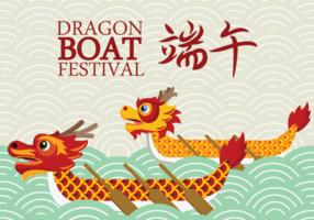 Dragon Boat Festival Vektor Hintergrund