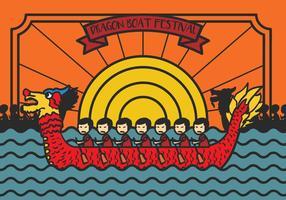 Drakbåtsfestivalen illustration Vector