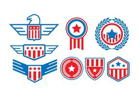 Freie United States Seal Badge Vektoren
