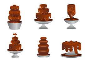 Köstliche Schokoladen-Brunnen-Vektoren