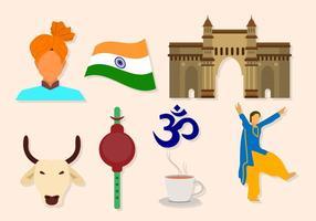 Fria Indien Vektorer
