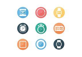 Verschiedene Timer Icon Freie Vektoren