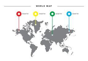 Bunte Weltkarte Vector