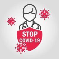 stoppa covid-19 med piktogramskylt
