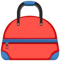 isolierte rote Tasche auf weißem Hintergrund