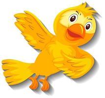 söt gul fågel karaktär